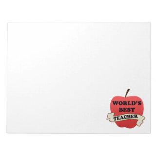 World's Best Teacher Notepad