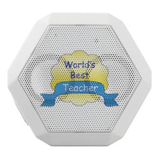 World's Best Teacher White Bluetooth Speaker