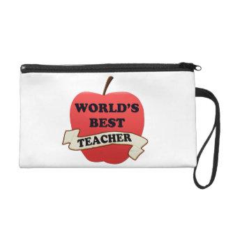 World's Best Teacher Wristlet