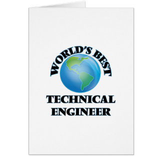 World's Best Technical Engineer Card