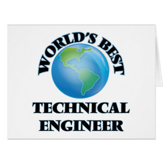 World's Best Technical Engineer Cards
