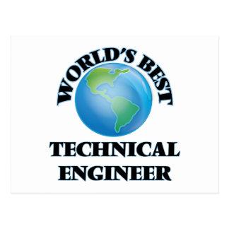 World's Best Technical Engineer Postcards