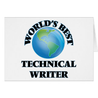 World's Best Technical Writer Card