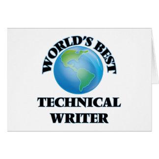 World's Best Technical Writer Cards