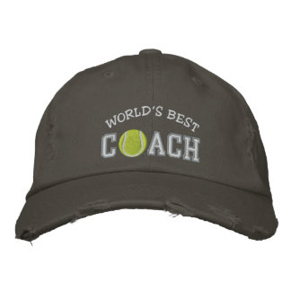 World's Best Tennis Coach Embroidered Hats