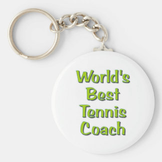 World's Best Tennis Coach gifts Key Chains