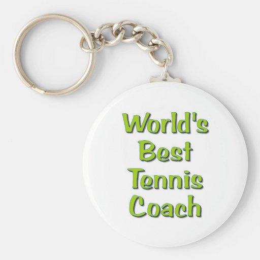 World's Best Tennis Coach gifts Key Chains