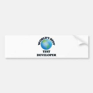 World's Best Test Developer Bumper Sticker