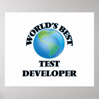 World's Best Test Developer Print