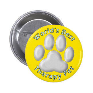 World's Best Therapy Pet 6 Cm Round Badge