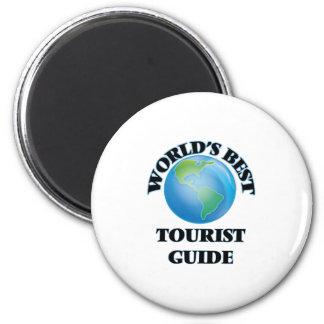 World's Best Tourist Guide 6 Cm Round Magnet