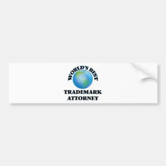 World's Best Trademark Attorney Bumper Stickers