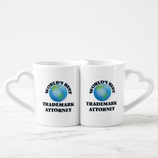 World's Best Trademark Attorney Lovers Mug Set
