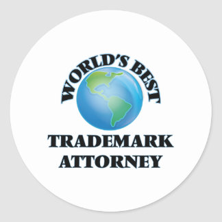 World's Best Trademark Attorney Round Sticker