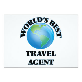 "World's Best Travel Agent 5"" X 7"" Invitation Card"