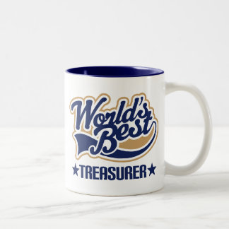 Worlds Best Treasurer Two-Tone Coffee Mug