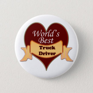 World's Best Truck Driver 6 Cm Round Badge