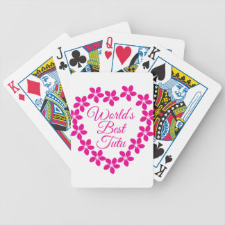 Worlds Best Tutu Bicycle Playing Cards