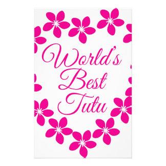Worlds Best Tutu Stationery