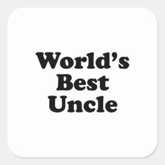 World's Best Uncle Square Sticker