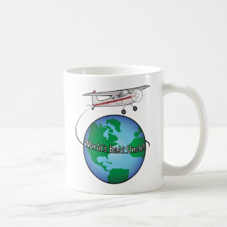 World's Best Uncle with Airplane Coffee Mug