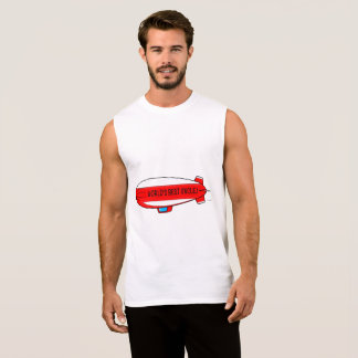 World's Best Uncle with Blimp Sleeveless Shirt