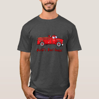 World's Best Uncle with Classic Fire Engine T-Shirt