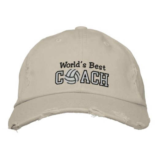 World's Best Volleyball Coach Embroidered Baseball Caps