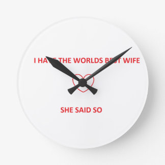 Worlds best wife clock
