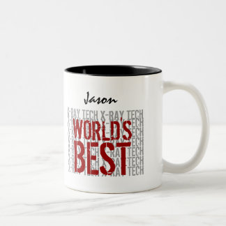 World's Best X-RAY TECH Custom Name B29L Two-Tone Coffee Mug