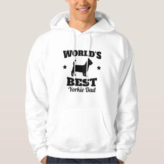 Worlds Best Yorkie Dad Hoodie