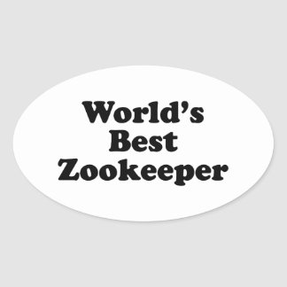 World's Best Zookeeper Oval Sticker