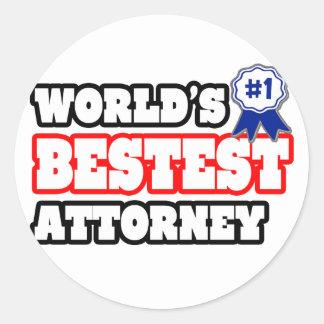 World's Bestest Attorney Sticker