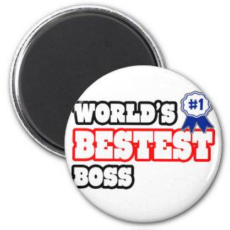 World's Bestest Boss Fridge Magnets