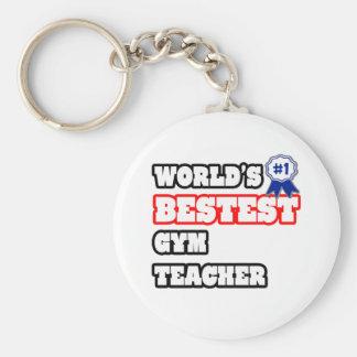 World's Bestest Gym Teacher Keychain