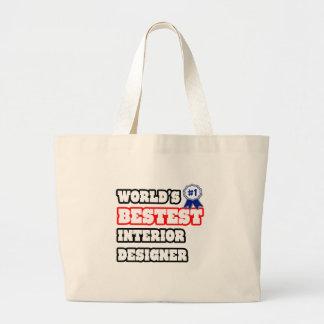 World's Bestest Interior Designer Tote Bags