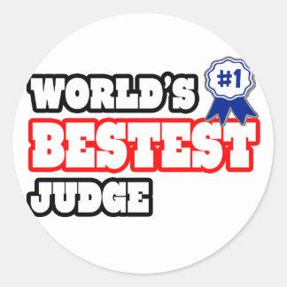 World's Bestest Judge Round Stickers