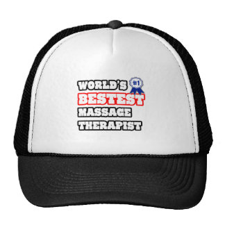 World's Bestest Massage Therapist Trucker Hats