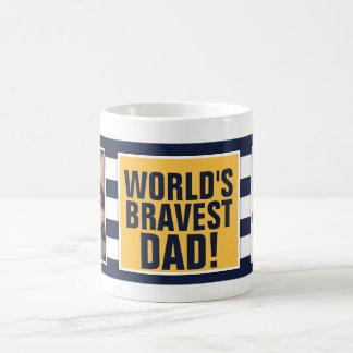 World's Bravest Dad - Father's Day Basic White Mug
