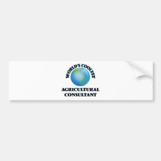 wORLD'S COOLEST aGRICULTURAL cONSULTANT Bumper Sticker