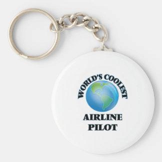 wORLD'S COOLEST aIRLINE pILOT Keychain