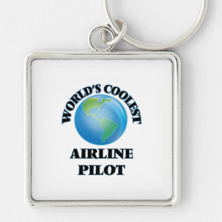 wORLD'S COOLEST aIRLINE pILOT Keychain