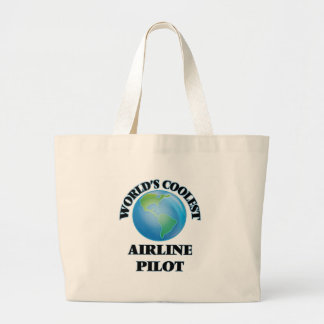 wORLD'S COOLEST aIRLINE pILOT Jumbo Tote Bag