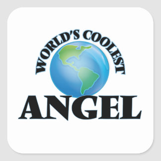 World's Coolest Angel Square Stickers