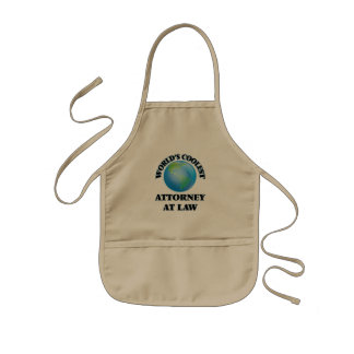 wORLD'S COOLEST aTTORNEY aT lAW Kids Apron