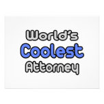 World's Coolest Attorney Custom Announcements
