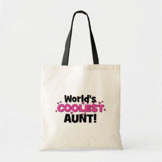 World's Coolest Aunt!  Great gift for Auntie To Be Budget Tote Bag
