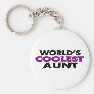 Worlds Coolest Aunt Key Ring