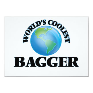 "World's coolest Bagger 5"" X 7"" Invitation Card"