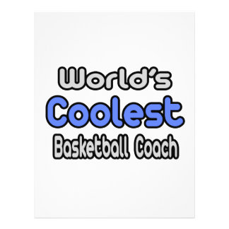 World's Coolest Basketball Coach Full Color Flyer